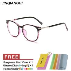 Promo Fashion Oval Kacamata Ungu Bingkai Kacamata Polos Untuk Miopia Wanita Kacamata Optik Kacamata Oculos Femininos Gafas Intl Mbulon