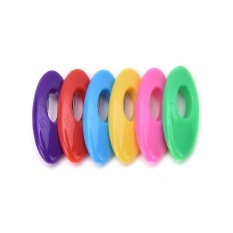 Fashion Plastik Hijab Muslim Islam Scarf Pin Safety Pin Set Multicolor 6 Pcs Warna-warni-Internasional