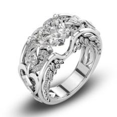 Modis Putri 925 Standar Murni Perak Alami Gemstone Pertunangan Pernikahan-Internasional