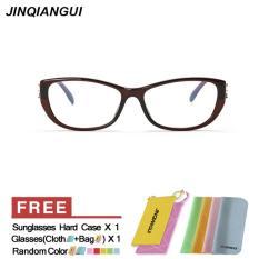 Fashion Kacamata Persegi Coklat Bingkai Kacamata Polos Untuk Miopia Wanita Kacamata Bingkai Kacamata Optik Oculos Femininos Gafas International Mbulon Diskon 30