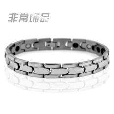 Diskon Besarfashion Sederhana Kepribadian Pria Titanium Steel Gelang Germanium Magnet Perawatan Kesehatan Gelang Radiasi Siswa Masuknya Perhiasan Korea Intl