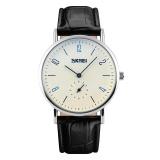 Spesifikasi Fashion Skmei 9120 Classic Pecinta Beberapa Jam Tangan Quartz Tahan Air Automatic Date Wrist Watches Wanita Jam Tangan Pria Pria Sabuk Hitam Putih Intl Terbaru