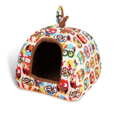 Fashion Lembut Musim Dingin Rumah Anjing Musim Panas Tempat Tidur Anjing Modis Puppy PET Chihuahua Anjing Kecil Sofa Cats Bed Tempat Tidur Anjing Karpet Hewan Piaraan Kennel (M Ukuran) -Intl