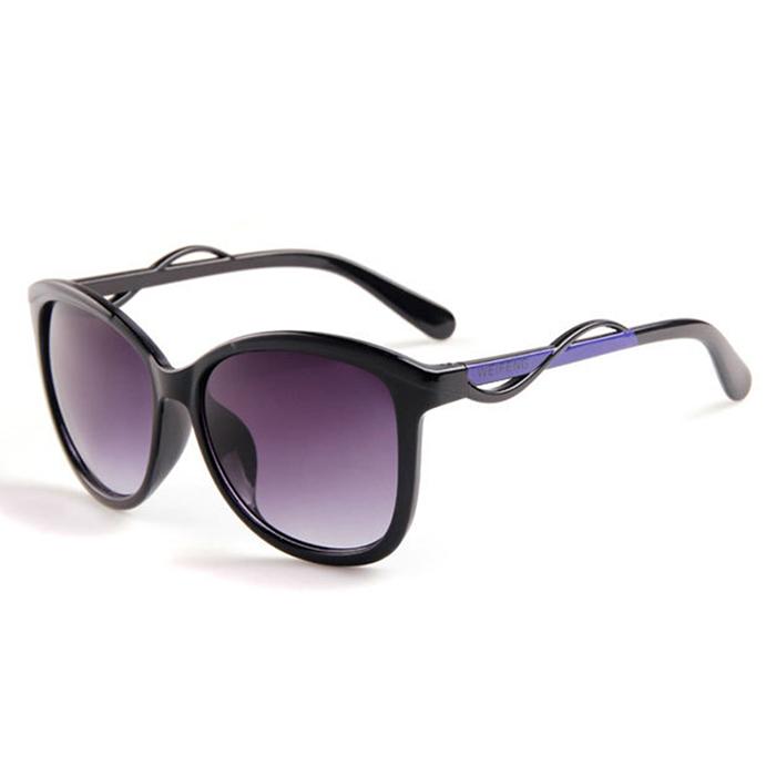 Fashion Gaya Women Colorful Bingkai Kacamata Wanita Anti-UV Sunglasses ( Hitam Abu-abu cc10def6f2