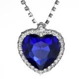 Toko Trend Busana Wanita S Heart Of The Ocean Crystal Pendant Kalung Biru Intl Yang Bisa Kredit