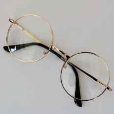 Model Fashion Unisex Retro Round Lingkaran Kacamata Asli Bening Lensa Kacamata Pria Terbaru