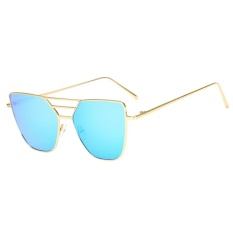 Fashion Unisex Vintage Tidak Beraturan Kacamata Fashion Aviator Mirror Sunglasses-Intl