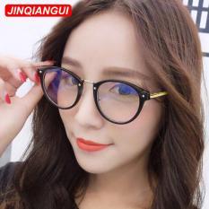 Fashion Vintage Retro Kacamata BlackGold Bingkai Kacamata Polos untuk Miopia Wanita Kacamata Optik Kacamata Oculos Femininos