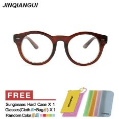 Harga Fashion Vintage Retro Round Glasses Brown Frame Glasses Plain For Myopia Men Eyeglasses Optical Frame Glasses Oculos Femininos Gafas Intl Mbulon Terbaik