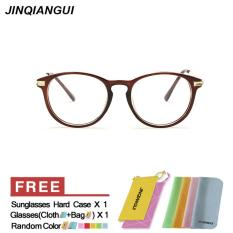 Spesifikasi Fashion Vintage Retro Kacamata Brown Frame Kacamata Polos Untuk Miopia Wanita Kacamata Optik Kacamata Oculos Femininos Gafas Intl Baru