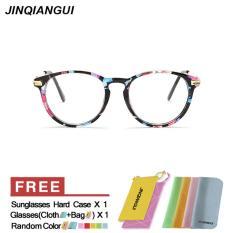 Harga Jinqiangui Kacamata Bingkai Wanita Lonjong Kacamata Beraneka Warna Hapus Lensa Fashion Paling Murah