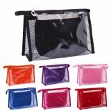 Spek Fashion Wanita Plastik Bening Transparan Pvc Travel Cosmetic Make Up Toiletry Bag Zipper Ungu Intl Oem