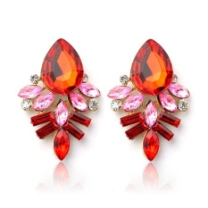 Fashion Wanita Lady Rhinestone Crystal DROP Alloy Ear STUDS Earrings RD-Intl