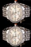 Jual Fashion Wanita Pria Bling Stainless Steel Quartz Rhinestone Crystal Wrist Watch Branded Original