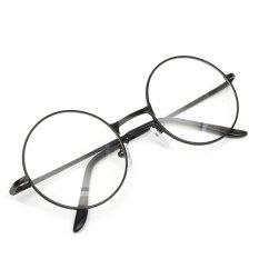 Ulasan Mengenai Fashion Wanita Pria Vintage Bulat Cermin Lensa Kacamata Kacamata Eyewear Unisex Hitam Intl