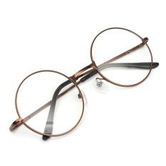 Beli Fashion Wanita Pria Vintage Bulat Cermin Lensa Kacamata Kacamata Adapula Kopi Online