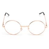 Spesifikasi Vintage Fashion Wanita Kacamata Pria Kacamata Lensa Cermin Bulat Eyewear Adapula Mawar Golden Oem