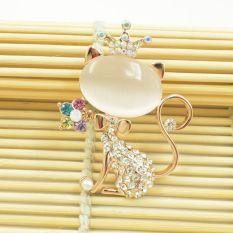 Jual Fashion Wanita Noble Lovely Cat Crystal Individualitas Bros Baru