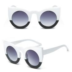 Situs Review Fashion Wanita Retro Vintage Cermin Besar Designer Cat Eye Sunglasses Uv400 Intl