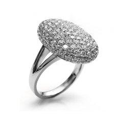 Fashion Wanita Cincin Seluruh Cincin Berlian Imitasi untuk Pesta Pernikahan