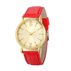 Fashion Wanita Roman Watch Lady Kulit Band Analog QUARTZ Wrist Watch-Intl