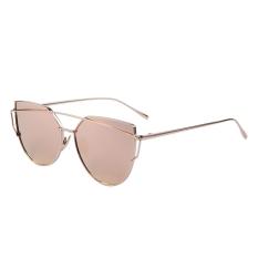 Harga Fashion Wanita Kacamata Hitam Bingkai Logam Cermin Lensa Besar Kacamata Nuansa Kacamata Intl Baru Murah