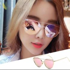 Spesifikasi Fashion Women Sunglasses Sunscreen Anti Uv Color Film Sunglasses Gold Pink Intl Yang Bagus