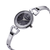 Fashion Women Watch Full Steel Quartz Causal Clock Silver Kimio Diskon