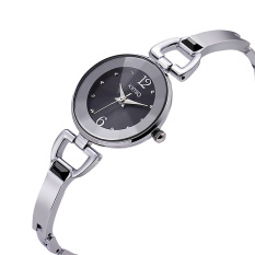 Jual Fashion Women Watch Full Steel Quartz Causal Clock Silver