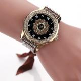Harga Fashion Women S Ladies Braided Band Rhinestone Analog Quartz Wrist Watches Brown Intl Oem Asli