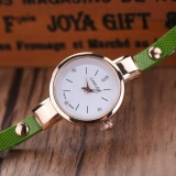 Toko Fashion Wanita Ladies Faux Kulit Rhinestone Gaun Analog Quartz Wrist Watches Green Intl Online Di Tiongkok