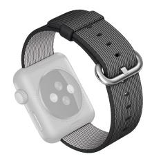 Spesifikasi Fashion Woven Nilon Kain Tali Pengganti For Jam Tangan Band Tali Gelang Pergelangan Tangan Sabuk To Apple Watch Saya Jam Tangan Seri 1 2 42Mm Hitam Hitam Beserta Harganya