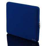 Ulasan Ritsleting Tas Laptop Fashion Lengan Baju Feminin Lembut For Macbook Ipad 35 56 Cm Biru