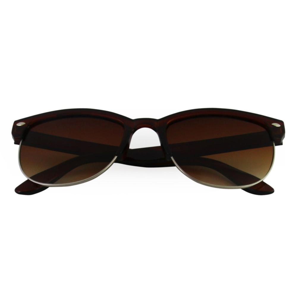 Harga preferensial Fashionity Unisex Retro Sunglasses 21033 Brw - Kacamata Pria & Wanita terbaik murah -