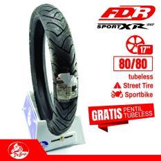 DR BAN FDR Sport Xr Evo 80/80 - 17 / Motor bebek / kualitas Bagus / Honda supra revo / yamaha vega jupiter Ring 17