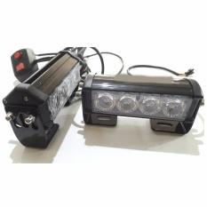 Promo Toko Federal Signal Lampu Strobo 9 Mode 2X4 Led Nyala Terang Biru Biru