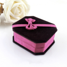 Jual Feelontop New Pretty Black Lint With Hotpink Bowknot Bracelet Boxes For Jewelry Packaging And Display Feelontop Di Tiongkok