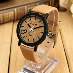 Promo Feifan Autoleader Rangka Kayu Antik Kulit Kasual Quartz Wrist Watch Tiongkok