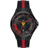 Diskon Ferrari Jam Tangan Pria Ferrari 0830160 Lap Time Black And Red Rubber Watch Ferrari