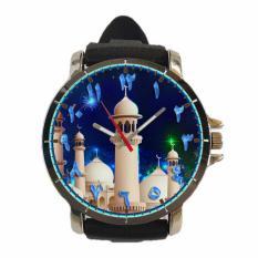 [Fika Store] Jam Tangan Rubber Custom Pria Wanita Islami Tema Masjid High Quality - Art 9
