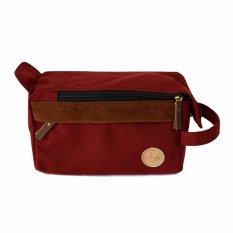 Beli Firefly Parker Maroon Canvas Dopp Kit Pouch Handbag Baru