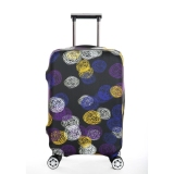 Harga Flora Stretchable Elasticy 18 20 Inch Waterproof Stretchable Koper Luggage Cover Untuk Bepergian Colorful Circle Termahal