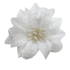 Flower Feather Fascinator Bead Jilbab Bros Ladies Putih-Intl