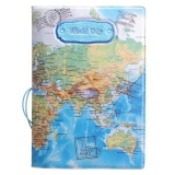 Jual Beli Fly Kulit Peta Dunia Pemegang Paspor Organizer Travel Cardcasedocument Cover Biru Intl Baru Tiongkok