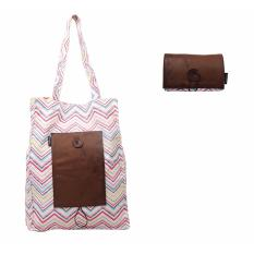 Foldable Tote Bag Mockup Multicolor Tribal Pattern combine Choco