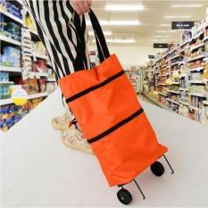 Foldable Trolley Bag - Keranjang Belanja Lipat dan Dorong- Tas Belanja  Multifungsi - tas belanja 0f27a52d3f