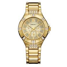 Foonovom Kingsky Produsen Jam Tangan QUARTZ Watch Model Ledakan Jepang Jam Tangan Mewah Atmosfer dari Pria dan Wanita Meja Custom Grosir SMT (GoldGold)