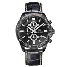 foorvof MEGIR big dial watch male table trend quartz watch movement waterproof Swiss Army watch student 3001 (BlackWhite)