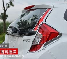 Untuk 14-17 Honda Jazz, Modifikasi, Penutup Lampu Belakang, Lampu Belakang Dekoratif Framepc4-Intl