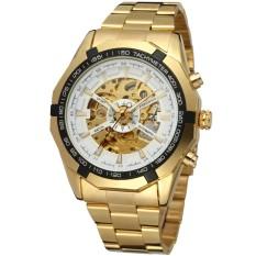 Promo Forsining 3665 2017 Pemenang Watch Mewah Sport Designer Gold Skeleton Mechanical Watch Pria Clock Stainless Jam Tangan Blaus Masculino Pria Intl Forsining